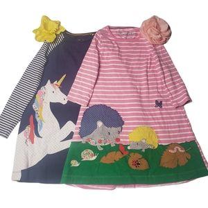 2 Mini Boden dresses